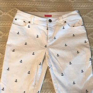 Lilly Pulitzer white Anchor jeans Main Line fit 6